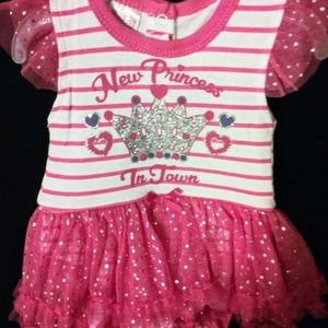 NWT New Princess in Town Bodysuit Tutu